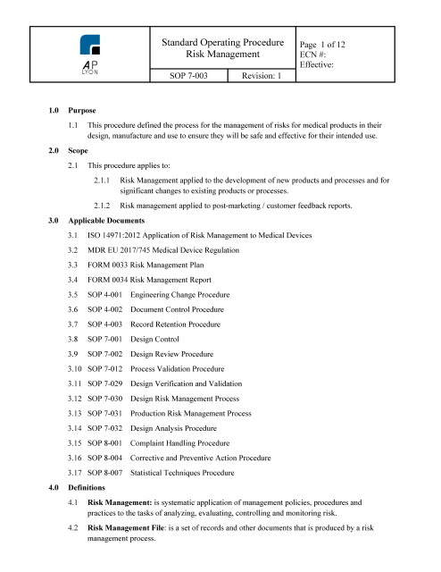 design and procedure Procedure design and administrative controls document type: nuclear safety  technical assessment guide unique document id and revision no.